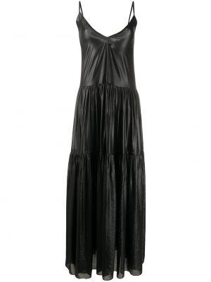 Платье макси на шнуровке с V-образным вырезом Parlor