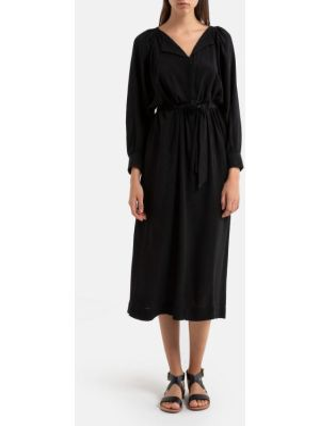 Платье миди на пуговицах с V-образным вырезом La Redoute