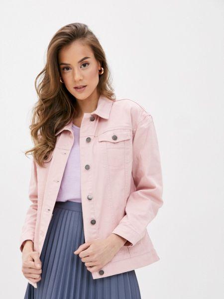 Джинсовая куртка весенняя розовая Incity