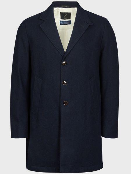 Пальто на пуговицах - синее Montecore