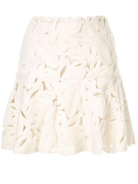 Spódnica mini z siatką biała Paule Ka