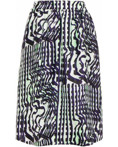 Сатиновая синяя юбка с карманами SamsØe Φ SamsØe