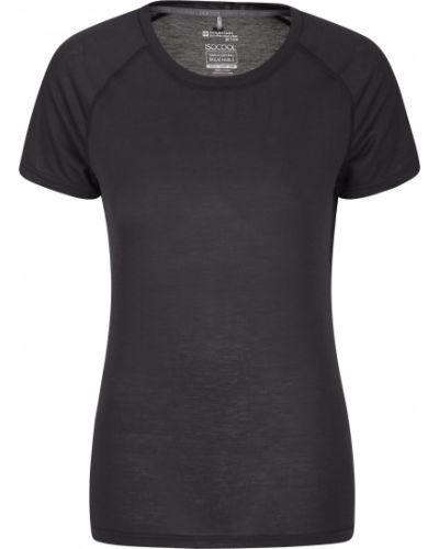 T-shirt materiałowa - czarna Mountain Warehouse