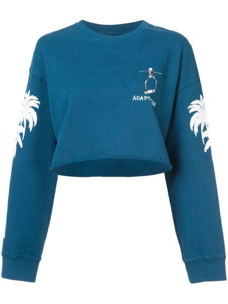 Niebieska bluza z długimi rękawami bawełniana Adaptation