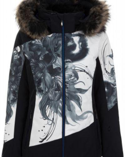 Куртка с капюшоном горнолыжная черная Descente