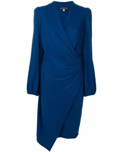 Темно-синее платье миди с запахом на молнии Plein Sud