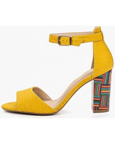 Босоножки желтый на каблуке Indiana