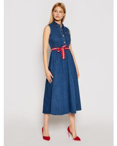 Sukienka jeansowa granatowa Liu Jo