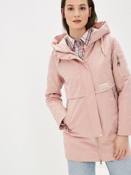 Теплая розовая утепленная куртка Malinardi