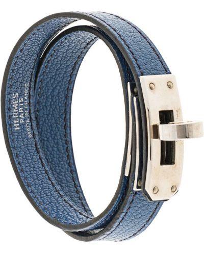 Niebieska złota bransoletka elegancka Hermes