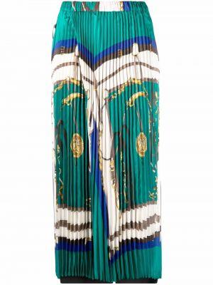 Укороченные брюки - зеленые Junya Watanabe