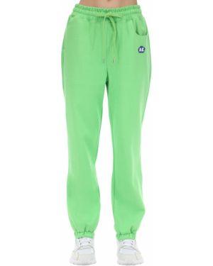 Zielone joggery z haftem bawełniane Ader Error
