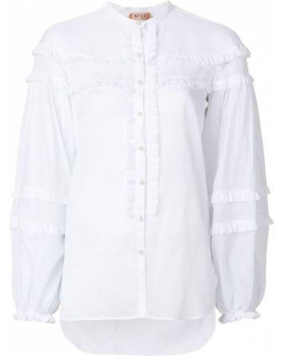 Рубашка с длинным рукавом без воротника хлопковая N21