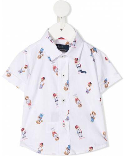 Классическая белая рубашка с воротником с короткими рукавами Harmont & Blaine Junior