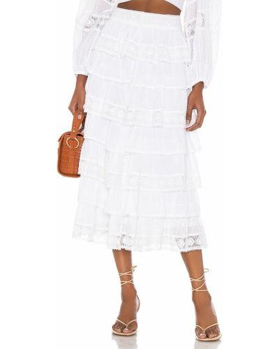 Ажурная хлопковая белая юбка Loveshackfancy
