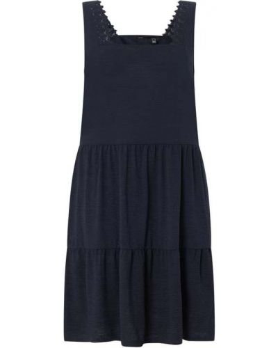 Prążkowana niebieska sukienka rozkloszowana Vero Moda Curve