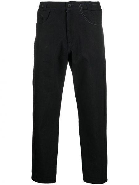 Хлопковые классические черные джинсы на молнии Yohji Yamamoto Pre-owned