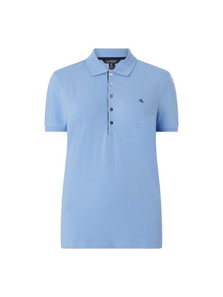 T-shirt bawełniana - niebieska Lauren Ralph Lauren Curve