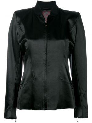 Черная куртка с воротником винтажная John Galliano Pre-owned