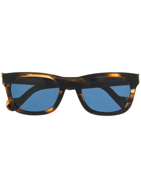 Прямые муслиновые солнцезащитные очки квадратные хаки Moncler Eyewear