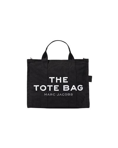 Черная хлопковая сумка шоппер Marc Jacobs