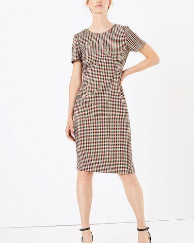 Повседневное платье осеннее бежевое Marks & Spencer