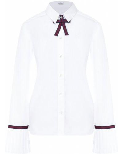 Блузка с бантом белая Van Laack