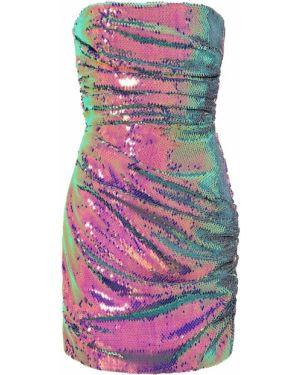 Вечернее платье с пайетками - фиолетовое Alex Perry