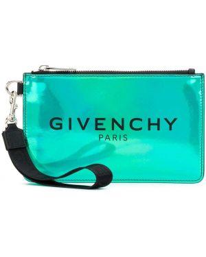 Torba sprzęgło zielony nowoczesny Givenchy