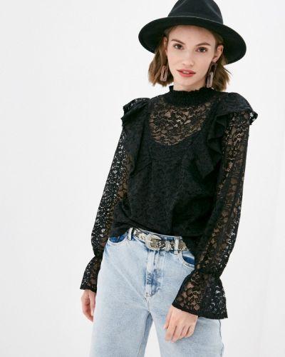 Кружевная черная блузка Pimkie