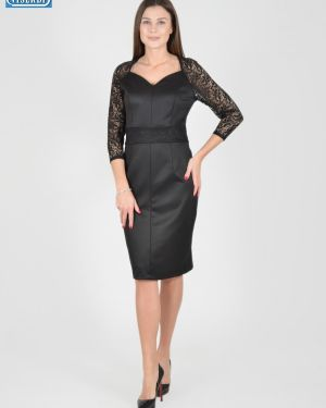 Платье с поясом из вискозы с вырезом Viserdi
