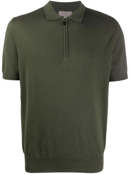 Koszula krótkie z krótkim rękawem prosto zielona Canali