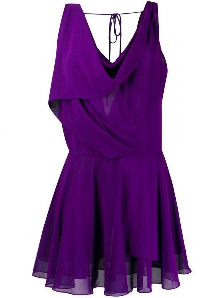 Фиолетовое приталенное платье прозрачное без рукавов Vivienne Westwood Pre-owned