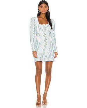 Платье с поясом плиссированное на молнии For Love & Lemons