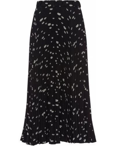 Плиссированная юбка - белая Prada