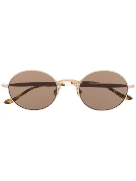 Brązowe złote okulary Matsuda