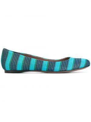Синие кожаные балетки Missoni Pre-owned