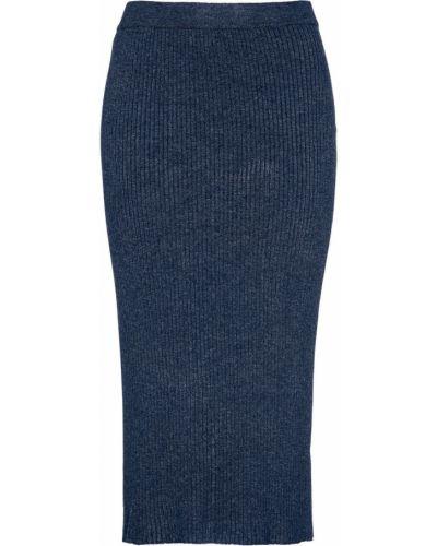 Синяя вязаная юбка Bonprix