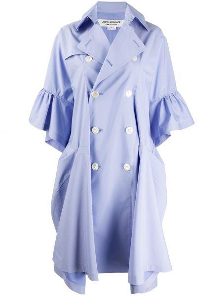 С рукавами синее пальто с воротником двубортное Junya Watanabe Comme Des Garçons Pre-owned