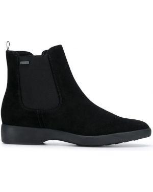 Ботинки челси замшевые черные Hogl