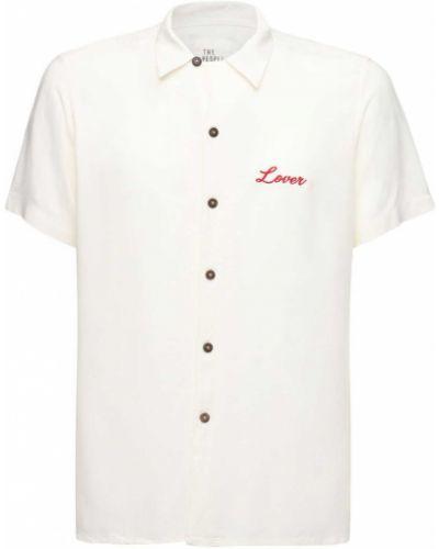 Koszula krótkie z krótkim rękawem z logo z haftem The People Vs