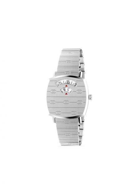 Srebro zegarek kwarcowy plac z szafirem Gucci