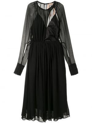 Платье миди средней длины - черное N°21