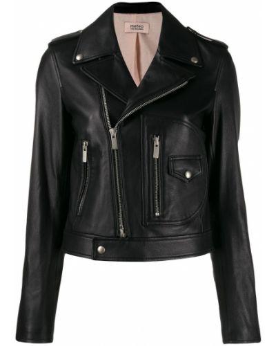 Черная длинная куртка Yves Salomon Meteo