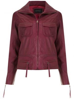 Красная кожаная куртка Olympiah