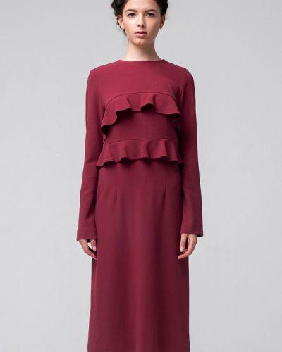 Платье мини осеннее красный Minimally
