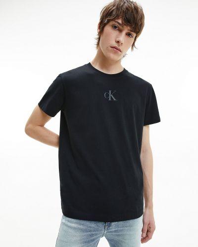 Джинсовая футболка - черная Calvin Klein Jeans