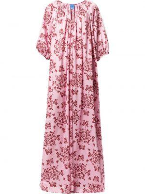 Хлопковое платье макси - розовое Macgraw