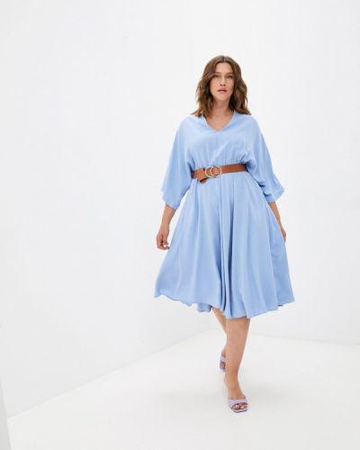Голубое повседневное платье Grafinia