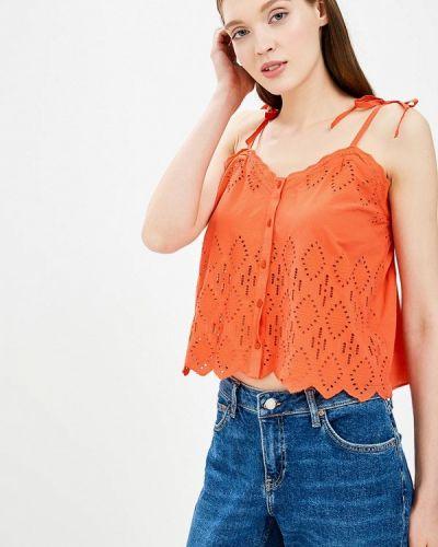 Оранжевый топ индийский Topshop